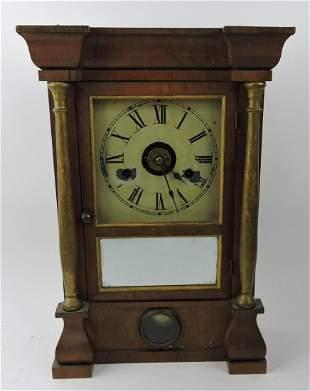 "Seth Thomas shelf clock, 16"", key and"