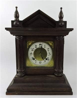 """Ansonia oak shelf clock, 16 1/2"""","""