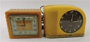 Lot of 2 Bakelite electric clocks