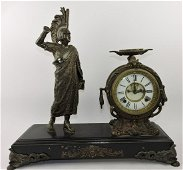 Ansonia (unmarked) figural clock with
