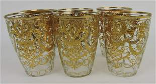 Moser gold enamel set of 6 tumblers,