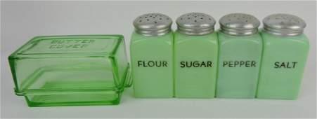 Jadeite flour, sugar, salt & pepper