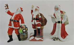 Royal Doulton lot of 3 Santa figures: