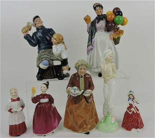 Royal Doulton lot of 7 figures: