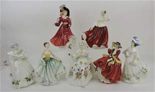 Royal Doulton lot of 7 lady figures:
