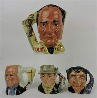 Royal Doulton lot of 4 toby jugs: