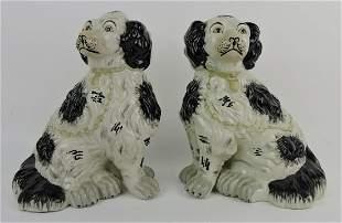 Staffordshire pair of contemporary black