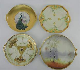Pickard lot of 4 two handled plates