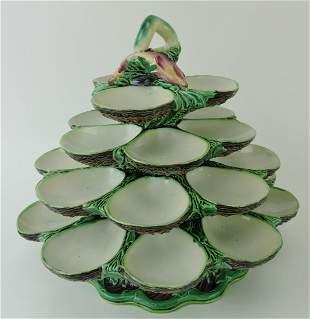 Minton majolica four tiered revolving