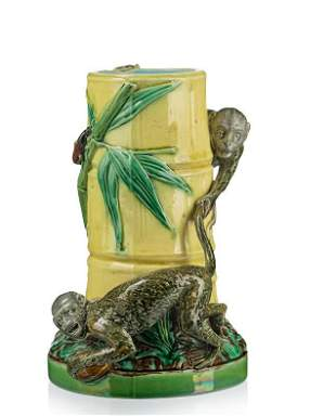 Minton majolica monkeys bamboo