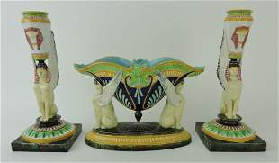 George Jones majolica Egyptian
