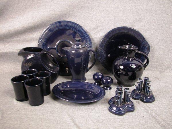 9: Post 86 Fiesta cobalt group, 14 various pieces