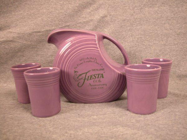 21: Post 86 Fiesta lilac 60th anniversary beverage set