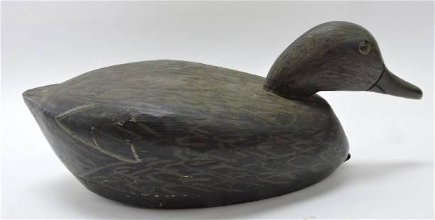 """Wooden duck decoy, 14"""""""