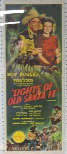 """Roy Rogers movie poster """"Lights of"""