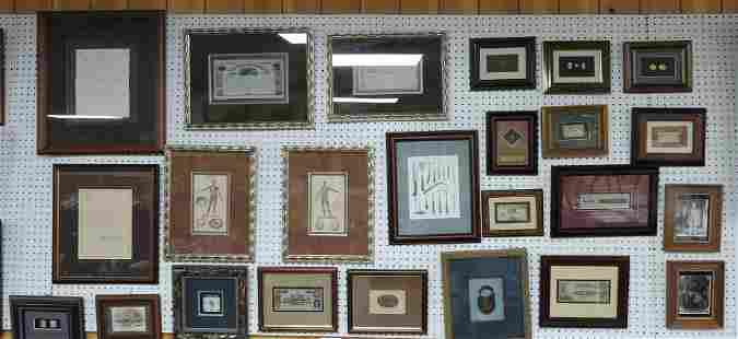 Civil War History lot of 24 framed items: