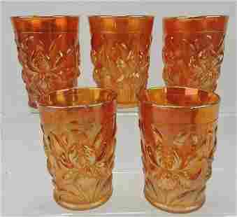Dugan marigold carnival glass Heavy Iris