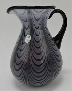 "Fenton 7 1/2"" art glass pitcher"
