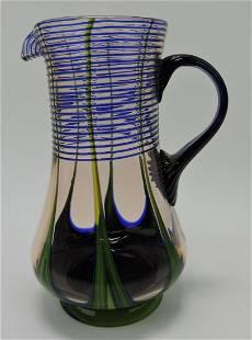 Czechoslovakia Kralik art glass pitcher,