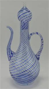 "Empoli MCM art glass wine decanter, 16"""