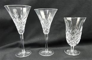 Waterford crystal set of stemware,