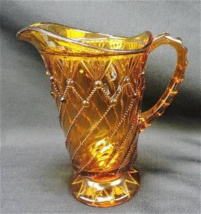 Greentown Cord Drapery amber EAPG water