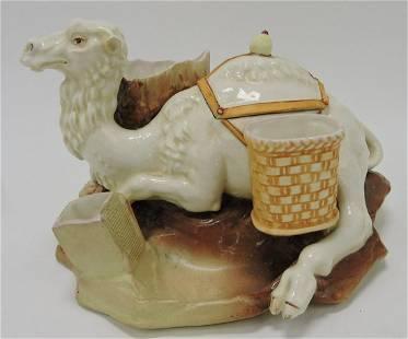 Austrian porcelain camel humidor