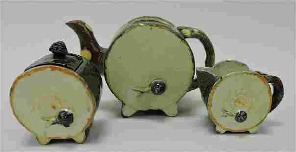 Fielding drum and snail tea set, no lid for