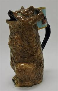 Holdcroft majolica bear with drum