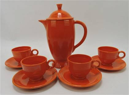 Fiesta coffee service, red, coffee pot and