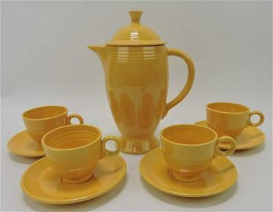 Fiesta coffee service, yellow, coffee pot
