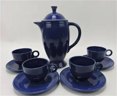 Fiesta coffee service, cobalt, coffee pot
