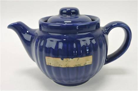 Hall China Everson ribbed teapot, sample,