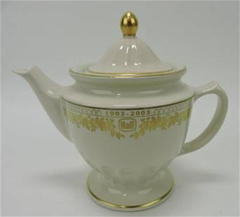Hall China Centennial teapot, cream,