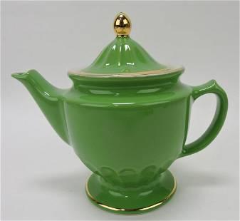 Hall China Centennial teapot, emerald green