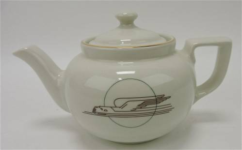 Hall China Boston teapot (#23) with logo for