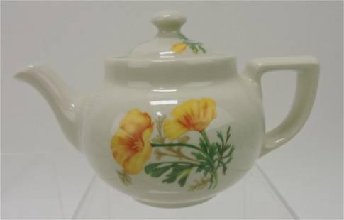 Hall China Boston teapot made for Sante Fe
