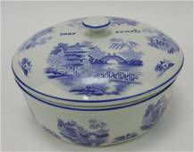 """Hall China Blue Willow """"shop sample"""""""