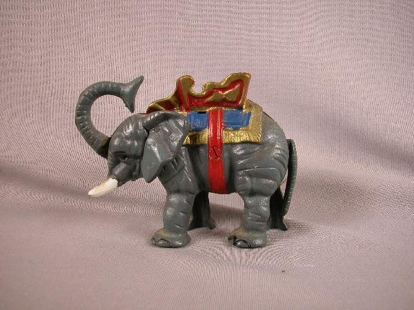 13: Cast iron elephant mechanical bank, age unknown