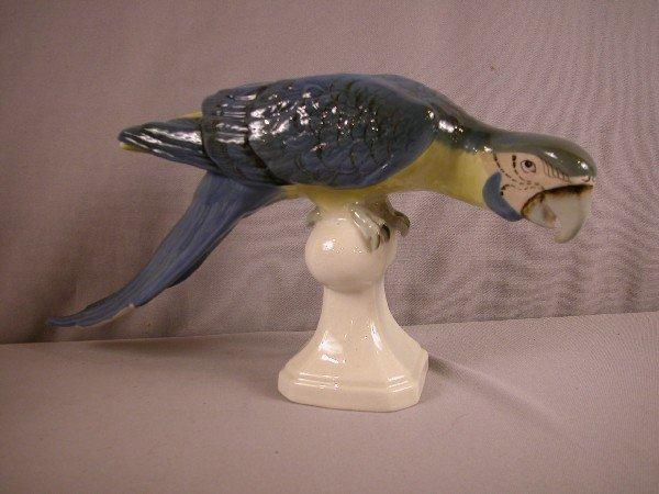 """1005: Royal Dux parrot, 18""""l, 81/2""""h, #319"""