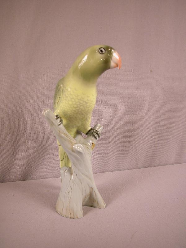 """1006: Royal Dux parrot, 11 1/2""""h"""