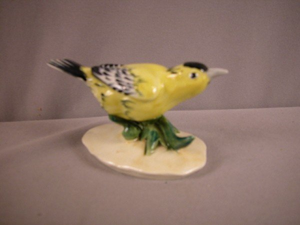 """1013: Pennsbury Pottery gold finch,#102, 5"""""""