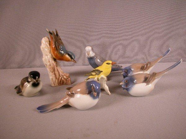 1016: Lot of 3 Goebel and 4 Bing &Grondahl bird figures