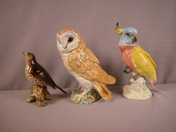1021: Beswick group of 3 birds,#2308, #1046 and #1180