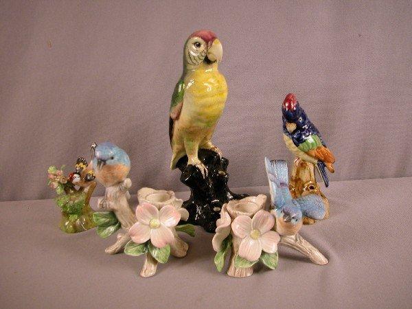 1022: Lot of 5 bird figures