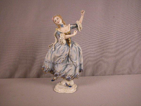 1031: Rosenthal German figure of alady dancing, #1517,