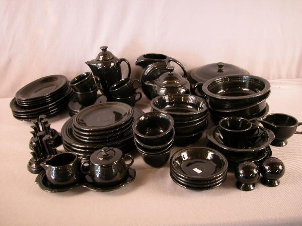2: Fiesta Post 86 lot of 51 pieces, black, assorted sha