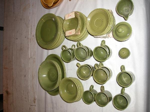 8: Fiesta lot of 58 pieces of green ironstone - plates,