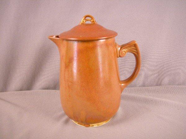 15: Fiesta Wells Art Glaze HLC rust coffee pot