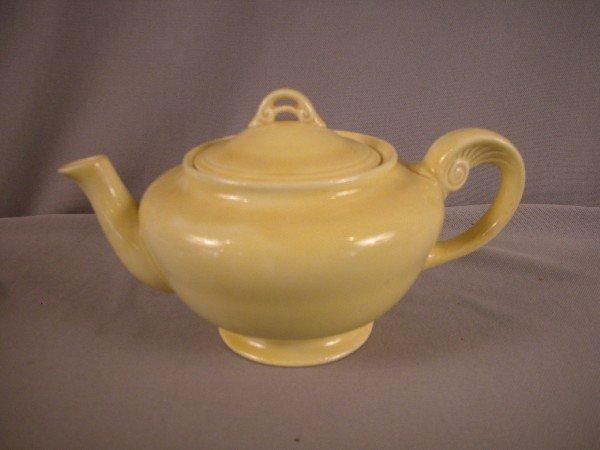 16: Fiesta Wells Art Glaze HLC yellow teapot